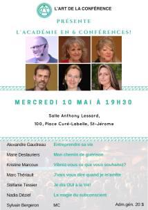 Je dis OUI à la Vie! À la Salle Anthony-Lessard, à St-Jérôme(Qc) le 10 mai 2017