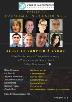 Choisir sa Vie! Laval(Qc) 12 janvier 2017